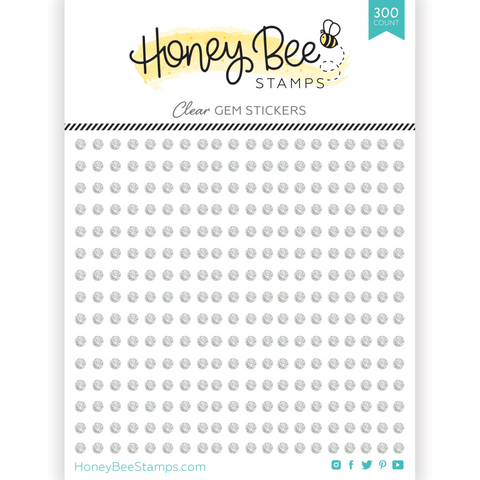 HONEY BEE STAMPS: Crystal Clear Gem Stickers | 300 Count