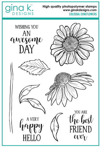 GINA K. DESIGNS:  Colossal Coneflowers | Stamp