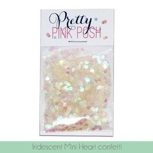 PRETTY PINK POSH:  Confetti (Iridescent Mini Heart Mix)