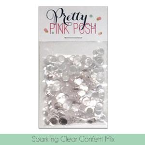 PRETTY PINK POSH:  Confetti | Sparkling Clear Mix
