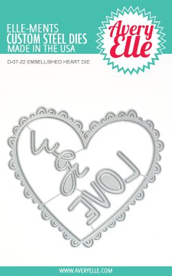 AVERY ELLE: Embellished Heart Elle-ments Die