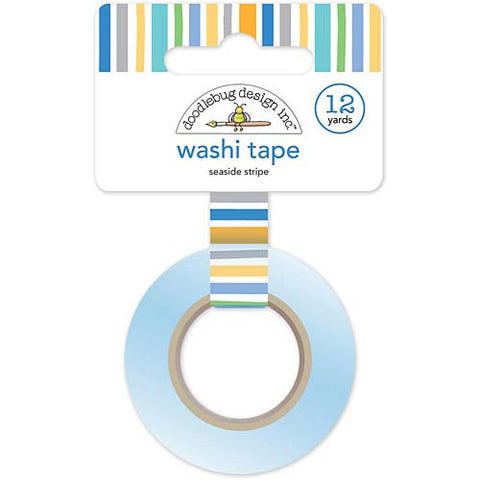 DOODLEBUG DESIGN: Washi Tape 15mm (Seaside Stipe)