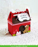 LAWN FAWN: Scalloped Treat Box Dog House Add On Lawn Cuts Die
