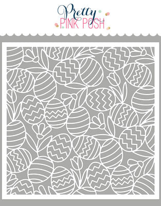 PRETTY PINK POSH:  Stencil | Easter Background