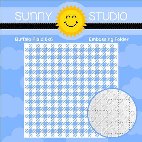 SUNNY STUDIO: Buffalo Plaid Embossing Folder