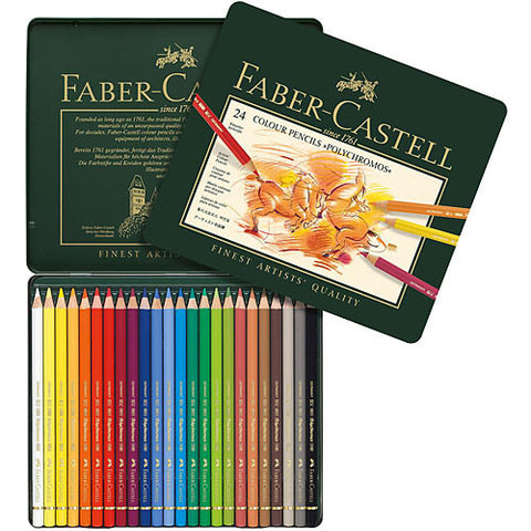 FABER-CASTELL: Polychromos Colored Pencil Set (24 piece set)