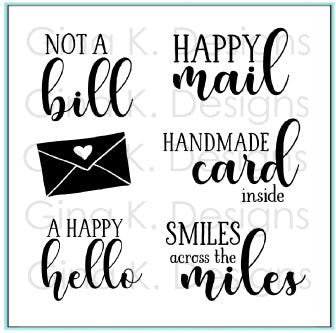 GINA K. DESIGNS:  Happy Mail | Stamp