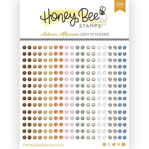 HONEY BEE STAMPS: Autumn Afternoon Gem Stickers | 300 Count