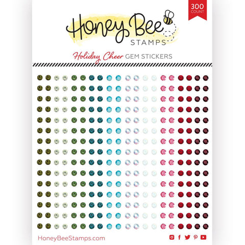 HONEY BEE STAMPS: Holiday Cheer Gem Stickers | 300 Count