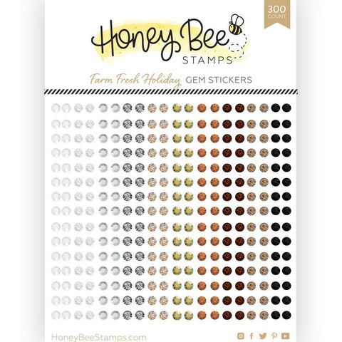 HONEY BEE STAMPS: Farm Fresh Holiday Gem Stickers | 300 Count [COMING SOON]