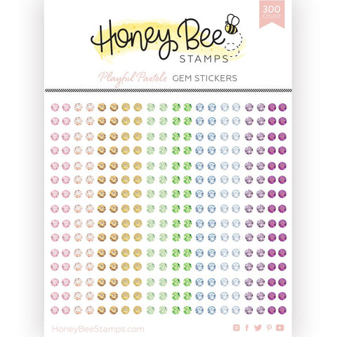 HONEY BEE STAMPS: Playful Pastels Gem Stickers | 300 Count