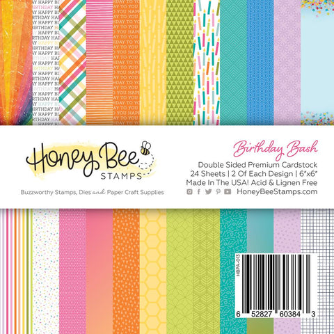 "HONEY BEE STAMPS: Birthday Bash | 6"" x 6"" Paper Pad"