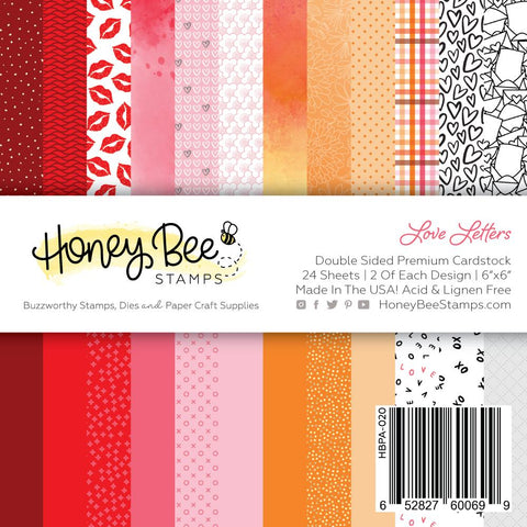"HONEY BEE STAMPS: Love Letters | 6"" x 6"" Paper Pad"