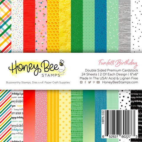 "HONEY BEE STAMPS: Funfetti | 6"" x 6"" Paper Pad"