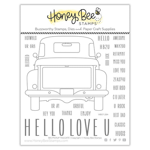 HONEY BEE STAMPS: Big Pickup Tailgate | Stamp