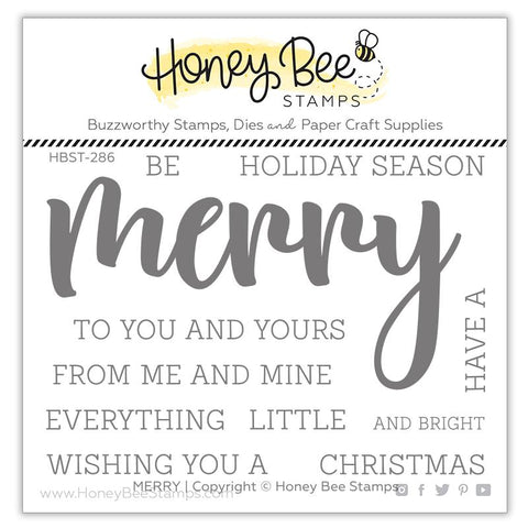 HONEY BEE STAMPS: Merry | Stamp