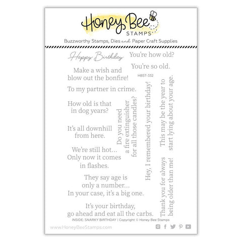 HONEY BEE STAMPS: Inside: Snarky Birthday Sentiments | Stamp