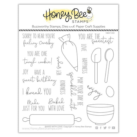 HONEY BEE STAMPS: Baked With Love | Stamp