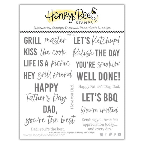 HONEY BEE STAMPS: Kiss the Cook | Stamp