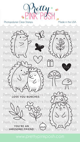 PRETTY PINK POSH:  Hedgehog Friends | Stamp