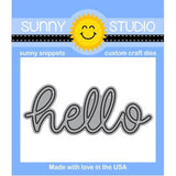 SUNNY STUDIO: Hello Word Sunny Snippets
