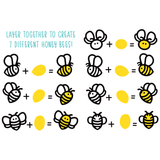 HONEY BEE STAMPS: Honey Bees Paper Piecing | Honey Cuts