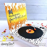 HONEY BEE STAMPS: Flames | Stencil