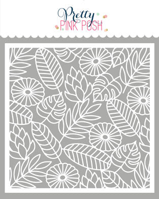 PRETTY PINK POSH:  Stencil | Jungle Background