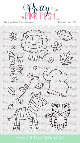 PRETTY PINK POSH:  Jungle Friends | Stamp