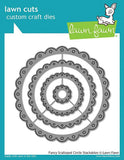 LAWN FAWN: Fancy Scalloped Circle Stackables Lawn Cuts Die
