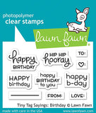 LAWN FAWN: Tiny Tag Sayings: Birthday