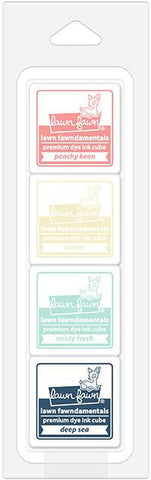 LAWN FAWN: Premium Dye Ink Cube 4/pk (Ice Cream Parlor)