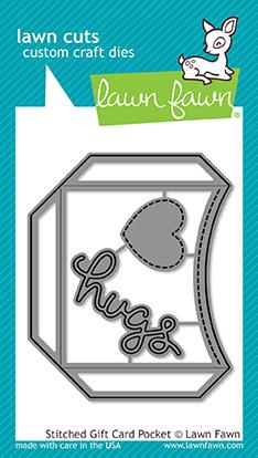 LAWN FAWN: Stitched Gift Card Pocket Lawn Cuts Die