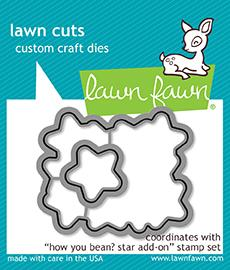 LAWN FAWN: How You Bean? Star Add-on Lawn Cuts Die