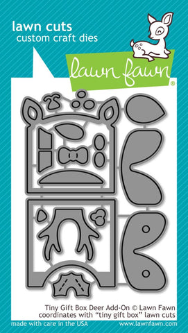 LAWN FAWN: Tiny Gift Box Deer Add-On Lawn Cuts Die