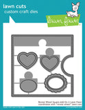 LAWN FAWN: Reveal Wheel Square Add-On Lawn Cuts Die