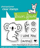 LAWN FAWN: I Love You (Calyptus)