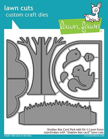 LAWN FAWN: Shadow Box Card Park Add-on Lawn Cuts Die