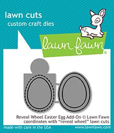 LAWN FAWN: Reveal Wheel Easter Egg Add-on Lawn Cuts Die