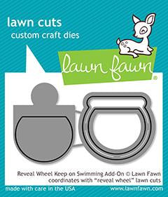 LAWN FAWN: Reveal Wheel Keep on Swimming Add-on Lawn Cuts Die