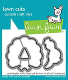 LAWN FAWN: Peacock Before 'n Afters Lawn Cuts Die