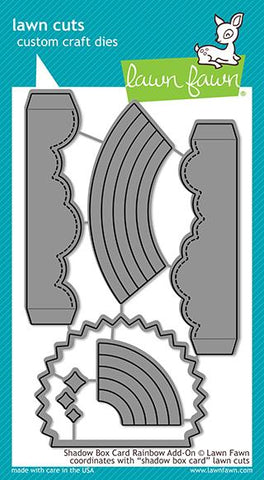 LAWN FAWN: Shadow Box Card Rainbow Add-on Lawn Cuts Die