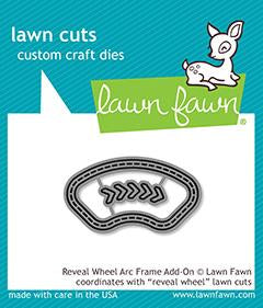 LAWN FAWN: Reveal Wheel Arc Frame Add-on Lawn Cuts Die