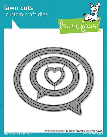 LAWN FAWN: Stitched Speech Bubble Frames Lawn Cuts Die