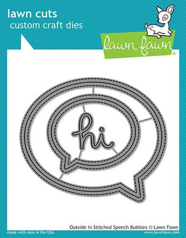 LAWN FAWN: Outside In Stitched Speech Bubbles Lawn Cuts Die