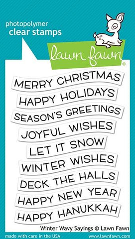 LAWN FAWN: Winter Wavy Sayings