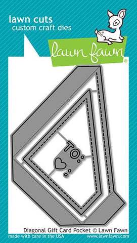 LAWN FAWN: Diagonal Gift Card Pocket Lawn Cuts Die