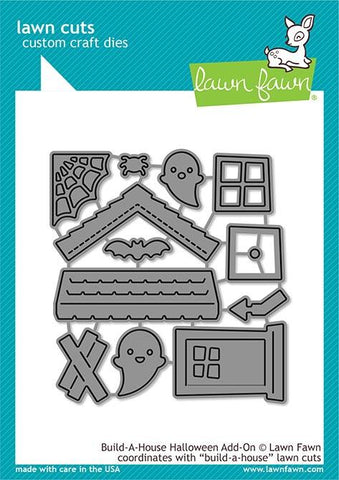 LAWN FAWN: Build a House Halloween Add-on Lawn Cuts Die