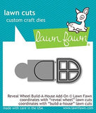 LAWN FAWN: Build a House Reveal Wheel Add-on Lawn Cuts Die