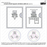 LAWN FAWN: Reveal Wheel Add-on | Lawn Cuts Die | Square Window